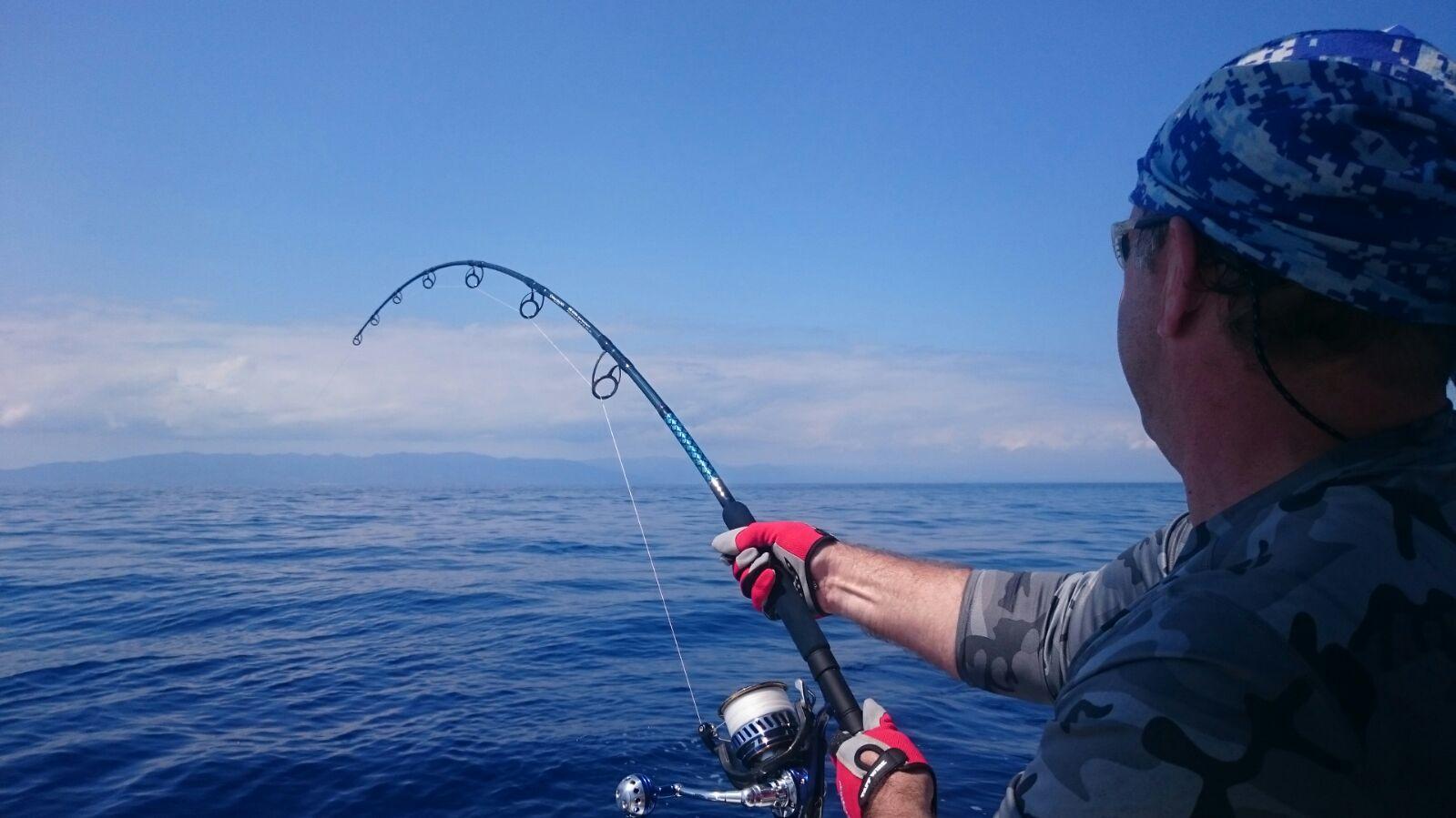 combatiendo un atún